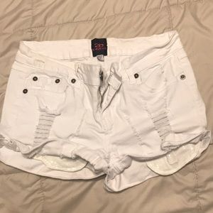 Pants - White jean shorts